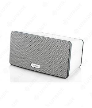 Sonos PLAY:3 (White) Беспроводной зональный плеер. 3 динамика (1ВЧ, 2 СЧ\НЧ) с индивидуальными усилителями в едином корпусе. Пассивный басовый излучат