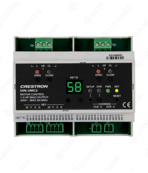 CRESTRON DIN-2MC2 DIN Rail Motor Control, 2 feeds, 2 channels