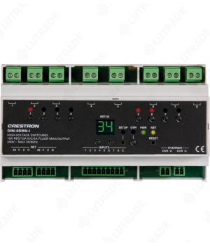 CRESTRON DIN-8SW8-I DIN Rail High-Voltage Switch with Digital Inputs