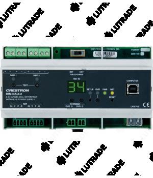 CRESTRON DIN-DALI-2 DIN Rail 2 Channel DALI Interface