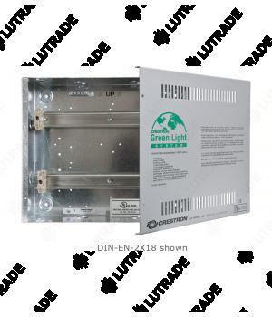CRESTRON DIN-EN-3X18 Enclosure for DIN Rail Devices, 3 DIN Rails, 18 Units Wide