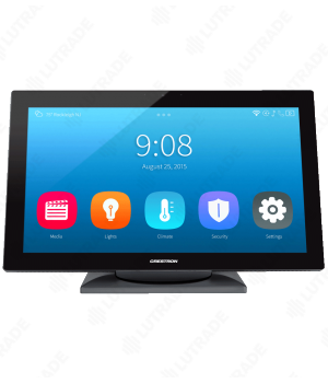 "CRESTRON TS-1542-TILT-C-B-S 15.6"" HD Touch Screen w/DM 8G+® Input, Tabletop Tilt, Black Smooth"