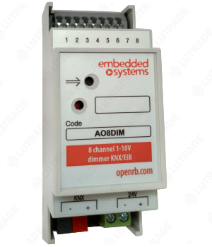 EMBEDDED SYSTEMS AO8DIM KNX Диммер 8 каналов 1-10В (0-10В)