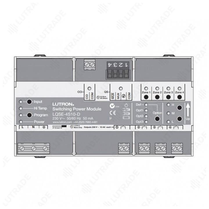 HWQS 4-канальный релейный модуль для установки на DIN-рейку (LQSE-4S10-D)