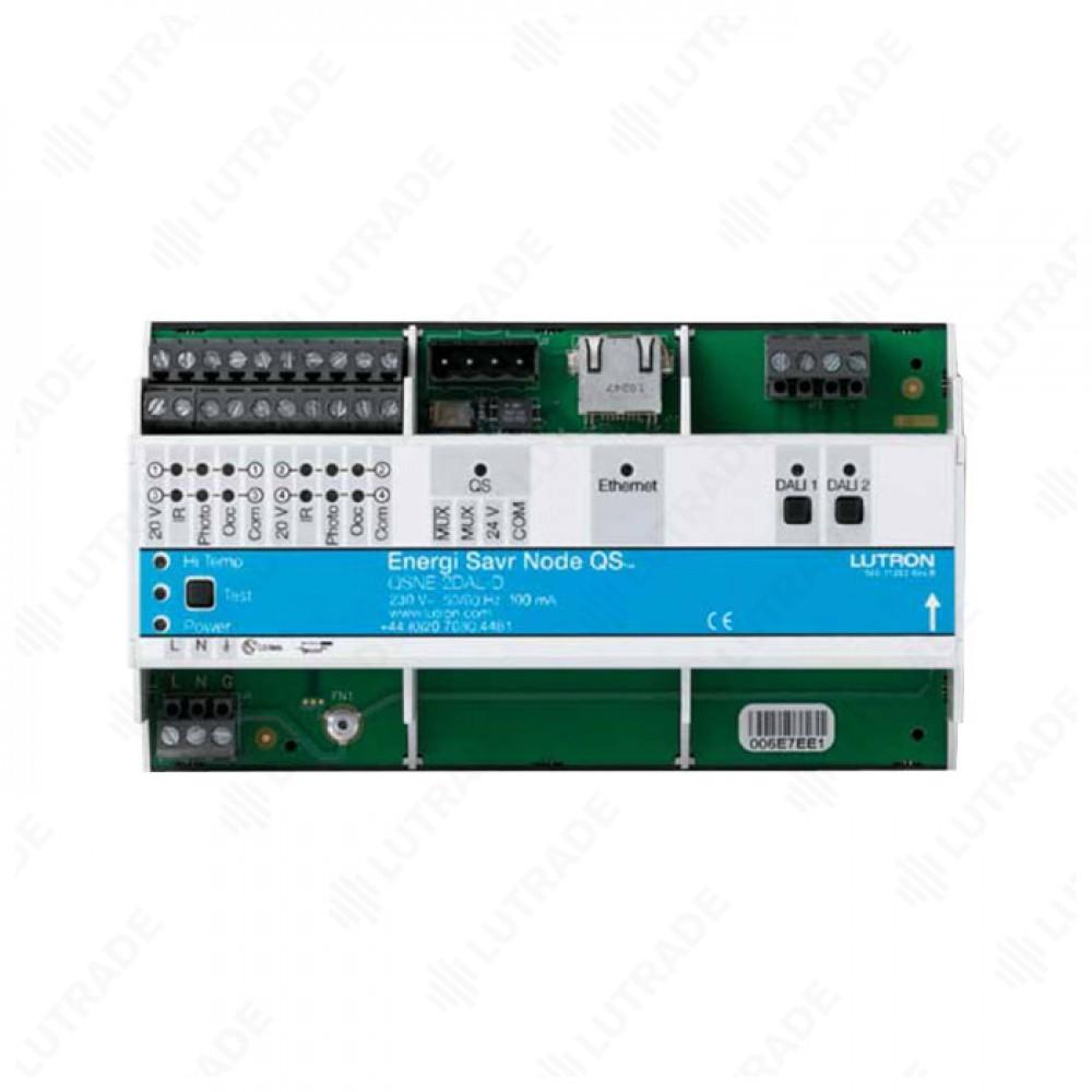 QSNE-2DAL-D Модуль-шлюз QS link/DALI (2 линии по 64 балласта каждая)