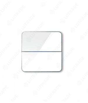 Basalte 203-04 Enzo front - dual - white glass